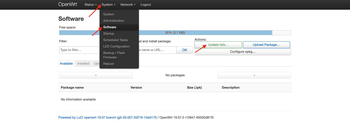openwrt openvpn package download