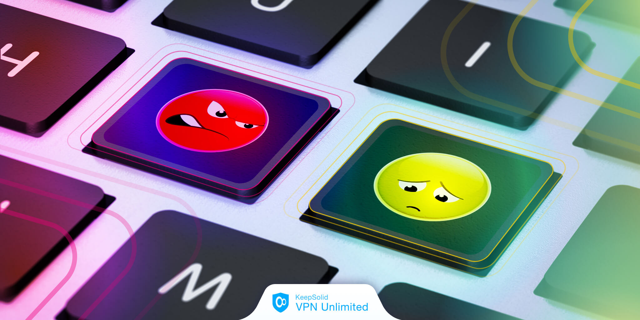 A keyboard with emoji buttons on online gadget for kids.
