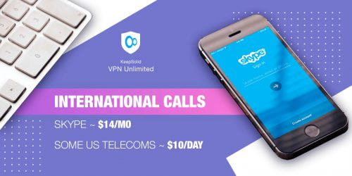 Cost of international calls via Skype and with some US telecoms